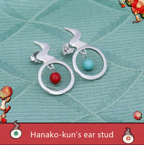 Cosplay Toilet-bound Hanako-kun Minamoto Kou Earrings Ear Stud Hanmade Accesory