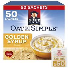 Quaker Oats Oat So Simple Golden Syrup Porridge 50 x 36g Sachets Microwaveable