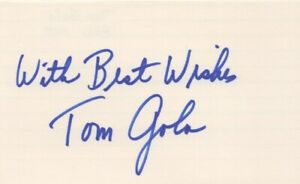 Tom Gola - NCAA Great, Basketball Hall of Fame - Signed 3x5 Card