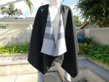 Burberry REVERSIBLE  PLAID MERINO WOOL SHAWL, One Size, Black MSRP$995 NWT