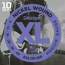 D'Addario EXL115 Pro Pack Electric Guitar Strings11-49.10 Sets At A Huge Saving!