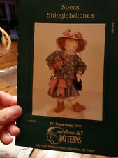 "My Sister & I Patterns - ""Specs Shinglebritches"" 24"" Ragg-Bagg Doll Uncut"