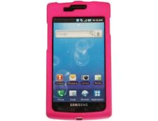 Rubberized Solid Case Rose Pink For Samsung Captivate