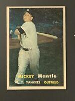 1957 Topps #95 Mickey Mantle EX+ New York Yankees HOF