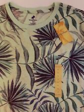 Caribbean Palm Leaves All Over Print XL Shirt New With Tags.