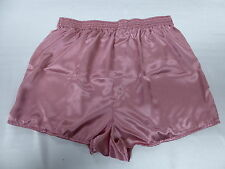Rose Pink Satin Boxers in Medium