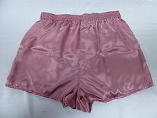 Rose Pink Satin Boxers in Medium