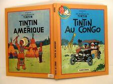 BD Album Double Les Aventures de Tintin TINTIN AU CONGO TINTIN EN AMÉRIQUE Hergé