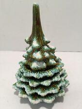 Vintage Stacked Christmas Tree & 4 Ashtrays & Lighter Set