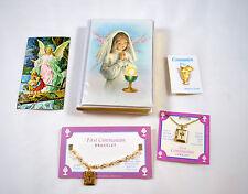 First Communion Lot 5 Items Girl Bracelet Pendant Communion Pin Vintage Missal