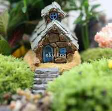 4 pcs Mini Resin Stone House Fairy Castle Miniature Garden Craft Micro Landscape