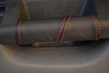 RED Stitch accoppiamenti FIAT PUNTO MK3 & grande CUOIO 2x PORTA MANIGLIA copre