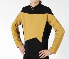 STAR TREK TNG Uniformen - gold - DATA Next Generation -  Baumwolle -NEU -  L