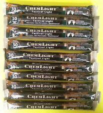 Lot of 10 White Cyalume Tactical Light Sticks Emergency Survival Prepper Hunting