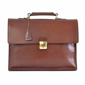 Cartella Ventiquattrore THE BRIDGE Briefcase con tracolla borsa patta 100% pe...