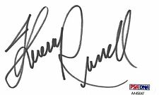 Theresa Russell Signed 3x5 Index Card PSA/DNA Autograph Eureka Track 29 Whore