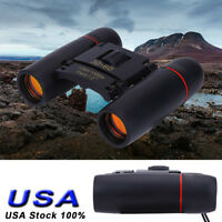 Day Night Vision Mini Binoculars 30 x 60 Zoom Outdoor Travel Telescope w/ Bag