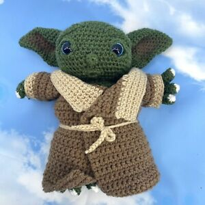"BABY YODA 9"" Amigurumi Crochet Doll Mandalorian Inspired ""The Child"" Handmade"