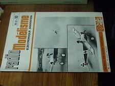 8µ? Revue Radio Modelisme n°53 Bateau par Image de A à Z / Manche à air Fokker E