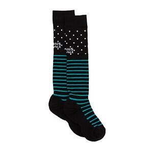 Mons Royale Lift Access Womens Socks Fashion - Black/white/tropicana All Sizes