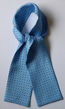 """Azul y Blanco/Marrón Rombo mano impreso Sarga de seda corbata 40"""" X 4"""" hecho a mano"""