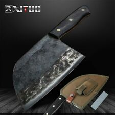 Handmade Traditional Butcher KnifE Forged Chef Kitchen Knife Meat Cleaver Knives