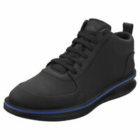 Camper Rolling Mens Black Leather Casual Shoes