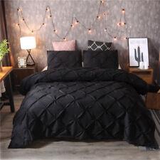 Luxury Style Pinch Pleat Duvet Cover Set Hypoallergenic Super Soft Bedding Sets