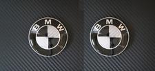 2PK BMW Roundel Carbon Fiber EMBLEM for Hood or Trunk ORNAMENT P/N 51148132375