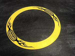 Vintage Duncan Flying Ring Frisbee, Yellow Flames