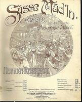 """"""" Süsse Mäd'ln """"  von Heinrich Reinhardt , übergroße, alte Noten"""