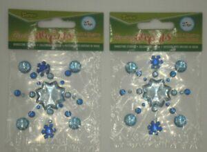 Rhinestone Stickers, Darice, Self-Adhesive, Snowflakes, Blue Rhinstone Stickers