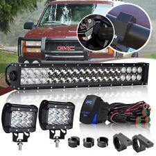 "22"" DOT 120W LED Bar light Mount bracket FOR Jeep Chevrolet Toyota GMC"