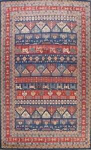 Vegetable Dye Tribal Super Kazak Oriental Area Rug Hand-knotted Geometric 9'x12'