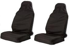 Universal Resistente Nylon cubiertas de asiento de coche impermeable protectores van Frontal Negro