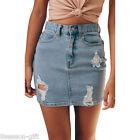 Women's Fashion High Waist Jeans Short Skirt Denim Pencil Mini Skirt GIFT