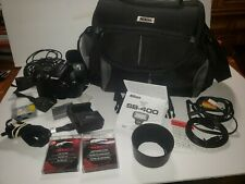 1 Nikon D5000 12.3MP Digital SLR Camera 3 battery + charger + cords + flash