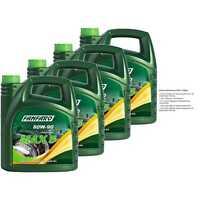 4x 4 Liter Original FANFARO MAX 5 80W-90 GL-5 LS API GL 5 LS Getriebeöl Gear Oil