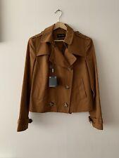 BNWT Massimo Dutti Brown Short Trench Coat Jacket Medium