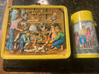 Vtg 1973 THE WALTONS Lunch Box & Thermos Aladdin Metal Embossed