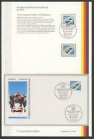 BRD ETSB 1991/8c ERSTTAGS-SAMMELBLATT SPORT SPORTS BOB-WM ALTENBERG