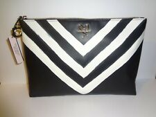 Victorias Secret black white bag cosmetic beauty case NEW makeup travel pouch