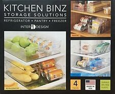 InterDesign Storage Solutions Kitchen Binz 4 PC Set Refrigerator Freezer Pantry
