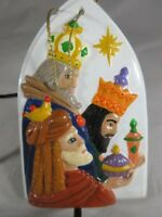 "Ceramic Christmas Tree Ornament. ""Wise Men"""