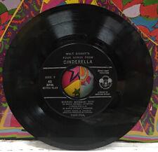 """Four Songs From Walt Disney's Cinderella 7"""" EP DBR-70"""