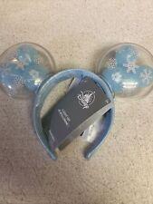 Disney Christmas 2020 Mickey Snowflake Light Up Balloons Ears Headband blue