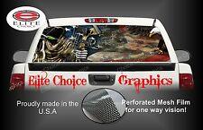 Reaper American Flag Eagle Camo Rear Window Graphic Decal Sticker Truck Car SUV
