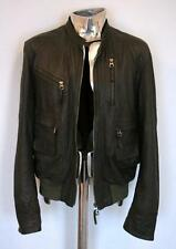 Men's Garrett Italian Leather Bomber Jacket EU50 Medium Large RRP£380 coat pelle