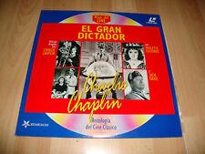 EL GRAN DICTADOR CON CHARLIE CHAPLIN Y PAULETTE GODDARD EN LASER DISC MUY NUEVO