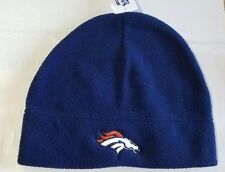 Denver Broncos Knit Beanie Winter Hat Toque Skull Cap NEW Blue Fleece